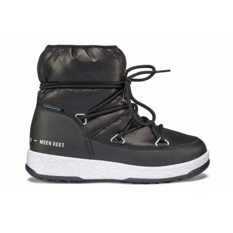 Juniorské zimní boty nízké MOON BOOT-JR Girl Low Nylon WP black