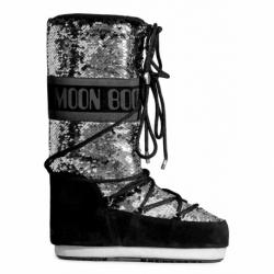 Dámske zimné topánky vysoké MOON BOOT-Classic Disco black