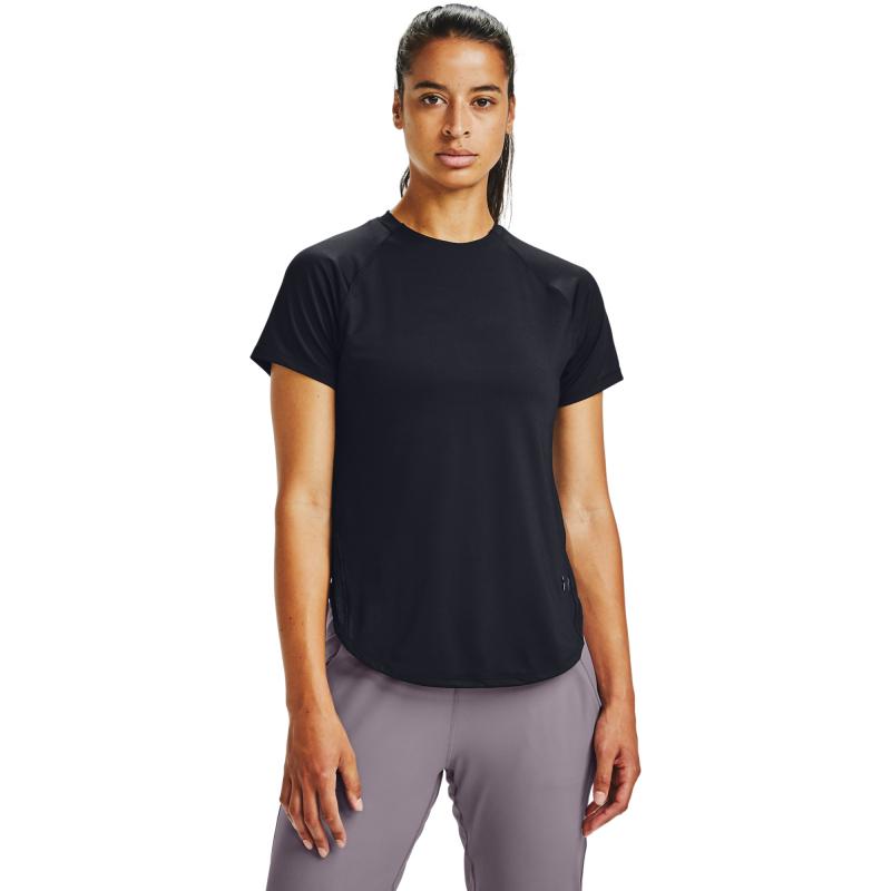 Dámske tréningové tričko s krátkym rukávom UNDER ARMOUR-Armour Sport Hi-Lo SS-BLK -