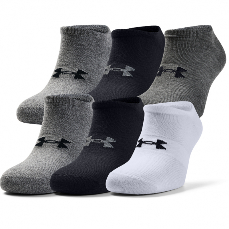 Pánske ponožky UNDER ARMOUR-UA Mens Essentials NS-GRY-6PK