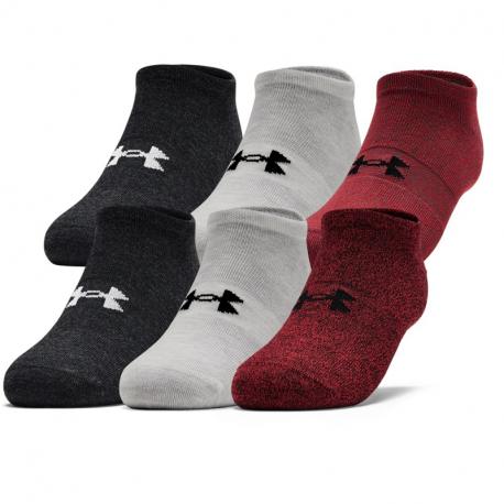 Pánske ponožky UNDER ARMOUR-UA Mens Essentials NS-RED-6PK