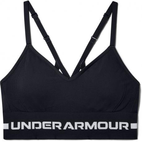 Dámská tréninková sportovní podprsenka UNDER ARMOUR-UA Seamless Low Long Bra-BLK
