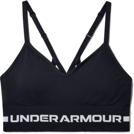 Kompresná podprsenka UNDER ARMOUR-UA Seamless Low Long Bra-BLK