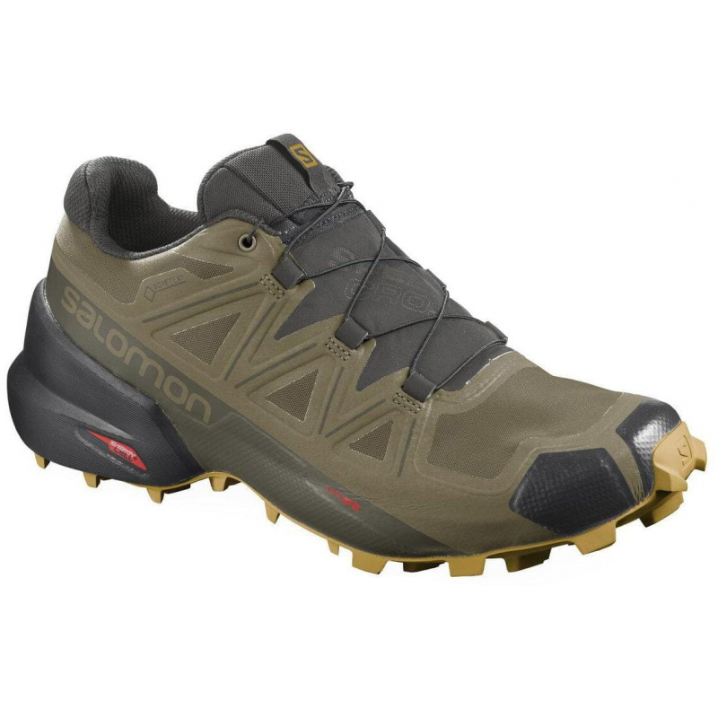 Pánska trailová obuv SALOMON-Speedcross 5 GTX martini olive/peat/arrowwood -