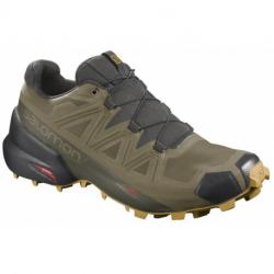 Pánská trailová obuv SALOMON-Speedcross 5 GTX martini olivová / rašelina / šíp (EX)