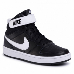 Detská rekreačná obuv NIKE-Court Borough Mid 2 black/white