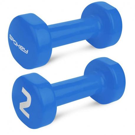 Činky SPOKEY-SHAPE IV 2x2 kg modré