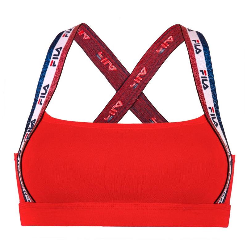 Dámska tréningová športová podprsenka FILA-FU6078 WOMAN BRA-118 RED -