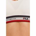 Dámska tréningová športová podprsenka FILA-FU6088 WOMAN BRA-300 WHITE -