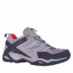 Pánska turistická obuv nízka EVERETT-Izlet grey