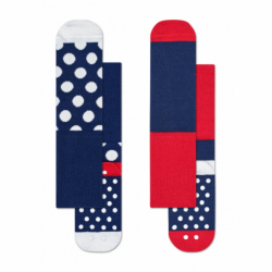Dětské módní ponožky HAPPY SOCKS-2-Pack Big Dot Anti-Slip Socks KBDO19-6000