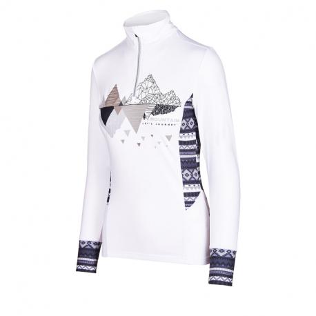 Dámské triko s dlouhým rukávem AUTHORITY-DRY-T WP ZIP_DS White