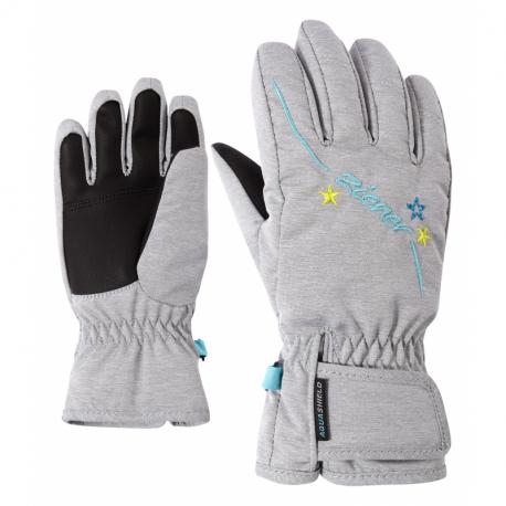 Juniorské lyžařské rukavice ZIENER-LULA AS (R) GIRLS glove junior Grey