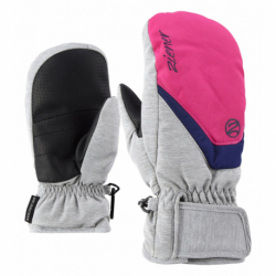 Juniorské lyžařské rukavice ZIENER-Loriana Mitten rukavice junior Grey