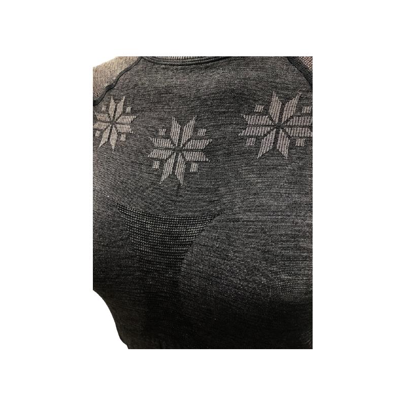 Dámske termo tričko s dlhým rukávom BLIZZARD-Viva long sleeve, merino wool, anthracite -