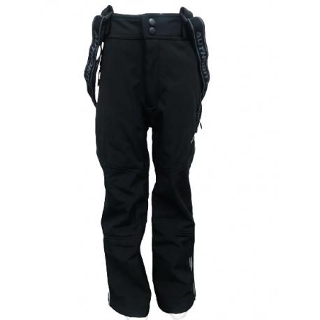 Detské lyžiarske softshellové nohavice AUTHORITY KIDS-NUSKO K_DS Black