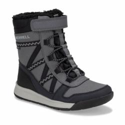 Dětské zimní boty vysoké MERRELL-Snow Crush 2.0 WTPF black / grey