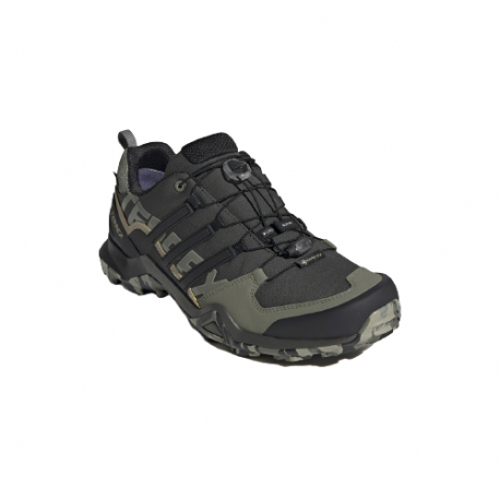 Pánska turistická obuv nízka ADIDAS-Terrex Swift R2 GTX legend earth/core black/feather grey