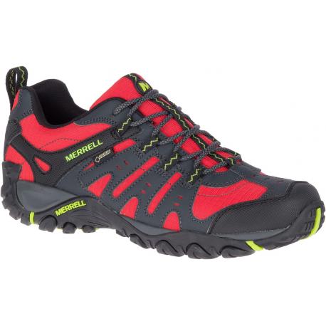 Pánská turistická obuv nízká MERRELL-Accentor Sport GTX high risk / lime (EX)