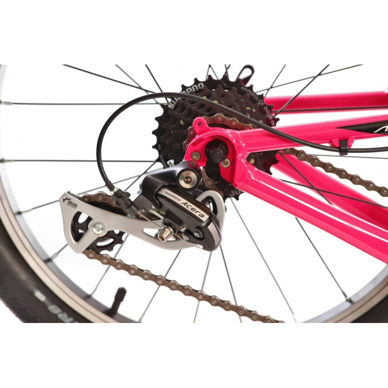Detský horský bicykel AMULET-20 Tomcat, pink shine/black white shine -