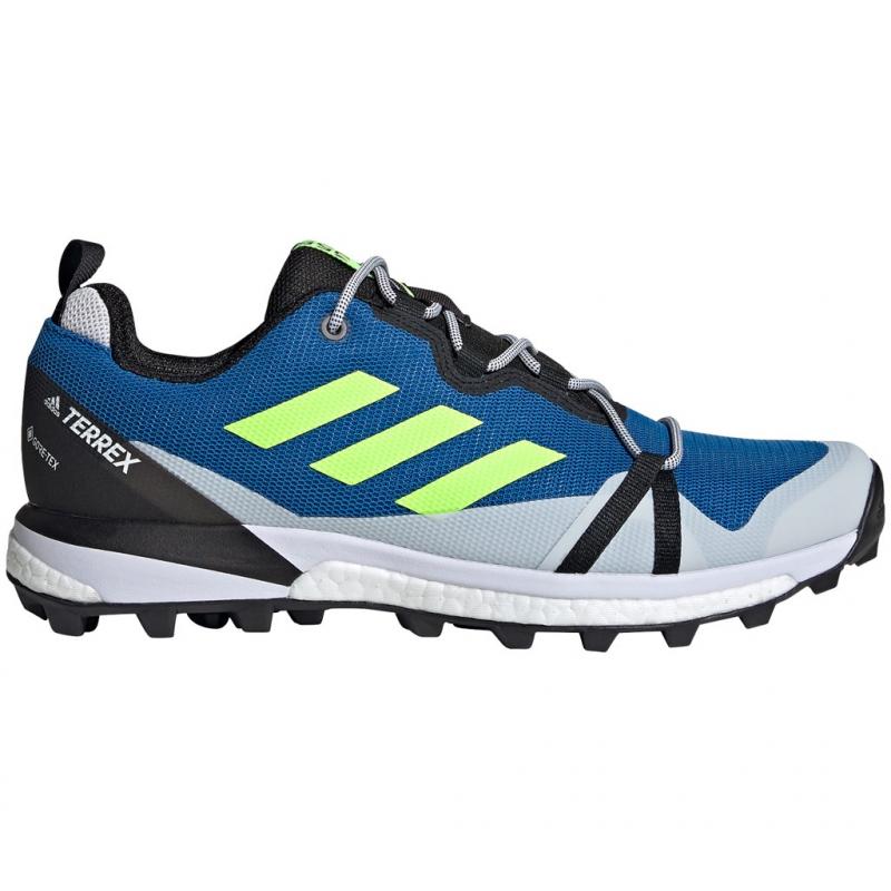 Pánska turistická obuv nízka ADIDAS-Terrex Skychaser LT GTX glory blue/signal green/dash -