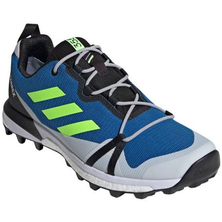 Pánska turistická obuv nízka ADIDAS-Terrex Skychaser LT GTX glory blue/signal green/dash