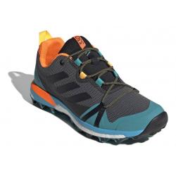 Pánska turistická obuv nízka ADIDAS-Terrex Skychaser LT grefou/cblack/hiraqu (EX)
