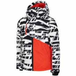 Chlapčenská lyžiarska bunda 4F-BOYS SKI JACKET-HJZ20-JKUMN002-10S-WHITE