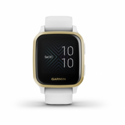 Dámský monitor aktivity GARMIN-Venue SQ, White / Light Gold