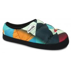 Dámske papuče (domáca obuv) NUVOLA-Classic Printed Harlequin Multi Fuchsia W