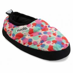 Dětské papuče (domácí obuv) NUVOLA-Classic Printed Pomp Pink K