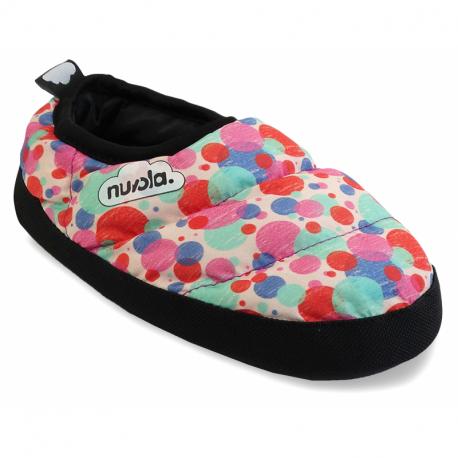 Detské papuče (domáca obuv) NUVOLA-Classic Printed Pomp Pink K