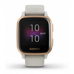 Dámský monitor aktivity GARMIN-Venue SQ Music, Light Sand / Rose Gold MP3