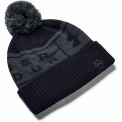 Zimní čepice UNDER ARMOUR-UA Big Logo Pom Beanie-BLK