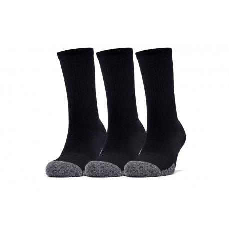 Ponožky UNDER ARMOUR-UA Heatgear Crew-BLK-3 pack
