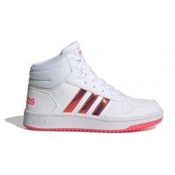 Juniorská rekreačná obuv ADIDAS-Hoops Mid 2.0 cloud white/cloud white/signal pink