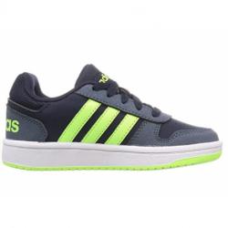 Juniorská rekreační obuv ADIDAS-Hoops 2.0 legend ink / signal green / legacy blue