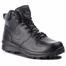 Pánska vychádzková obuv NIKE-Manoa Leather black/black/black