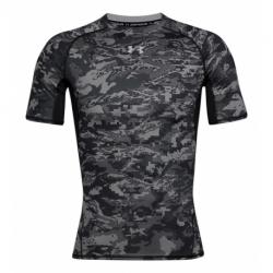Pánske kompresné tričko s krátkym rukávom UNDER ARMOUR-UA ARMOUR HG Print SS-BLK