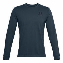 Pánské triko s dlouhým rukávem UNDER ARMOUR-UA SPORTSTYLE LEFT CHEST LS-BLU
