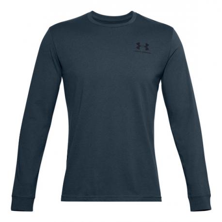 Pánske tričko s dlhým rukávom UNDER ARMOUR-UA SPORTSTYLE LEFT CHEST LS-BLU