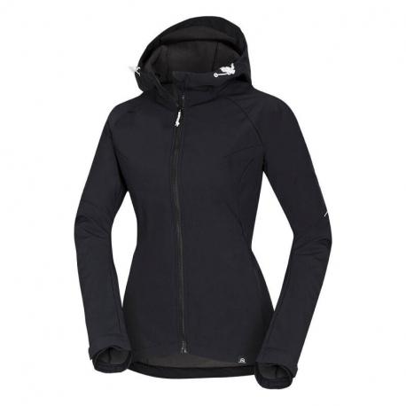 Dámska turistická softshellová bunda NORTHFINDER-VIKTORISA-269 Black