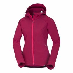Dámská turistická softshellová bunda NORTHFINDER-VIKTORISA-366 Pink
