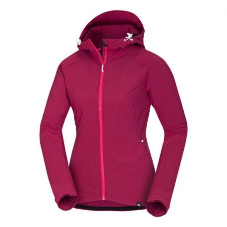 Dámska turistická softshellová bunda NORTHFINDER-VIKTORISA-366 Pink