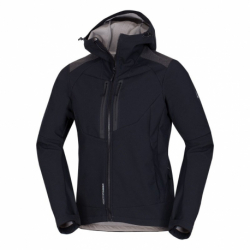 Pánská turistická softshellová bunda NORTHFINDER-BROSDY-270 Black