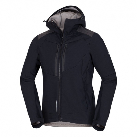 Pánska turistická softshellová bunda NORTHFINDER-BROSDY-270 Black