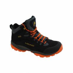 Pánska turistická obuv vysoká HEAD-Kenya black/orange (EX)