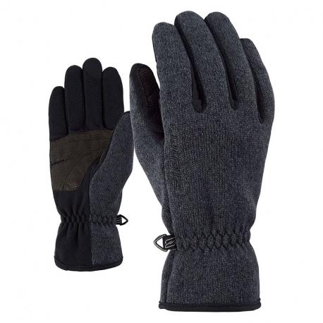 Lyžiarske rukavice ZIENER-IMAGIO - black melange