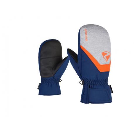 Juniorské lyžařské rukavice ZIENER-Loriana Mitten rukavice junior Blue