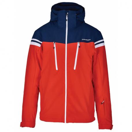 Pánská lyžařská bunda BLIZZARD-Mens Ski Jacket Civetta, red / dark blue / white
